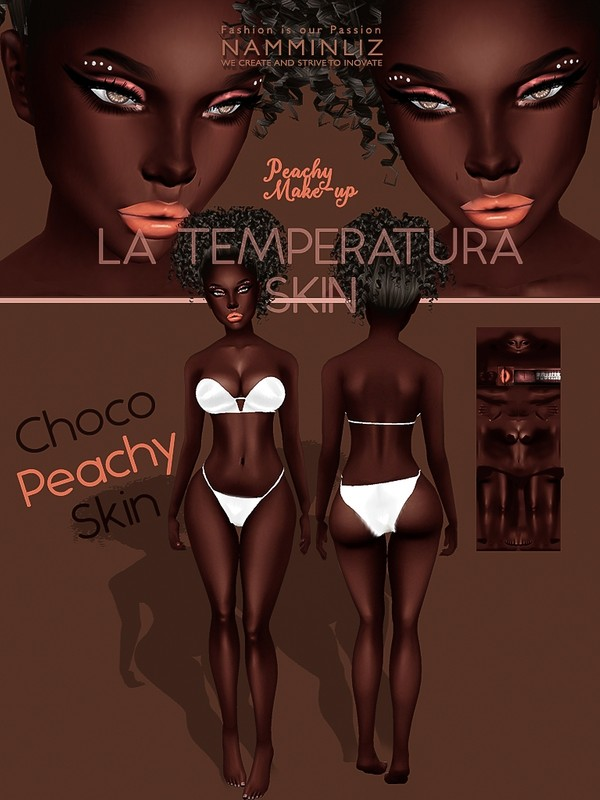 La Temperatura Choco Peachy Skin Textures JPG ( Make-up - Eyeliner )