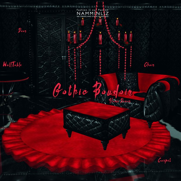 Gothic Boudoir Home Decor 35 Textures ( Rome & Furnitures only 3 pieces available)