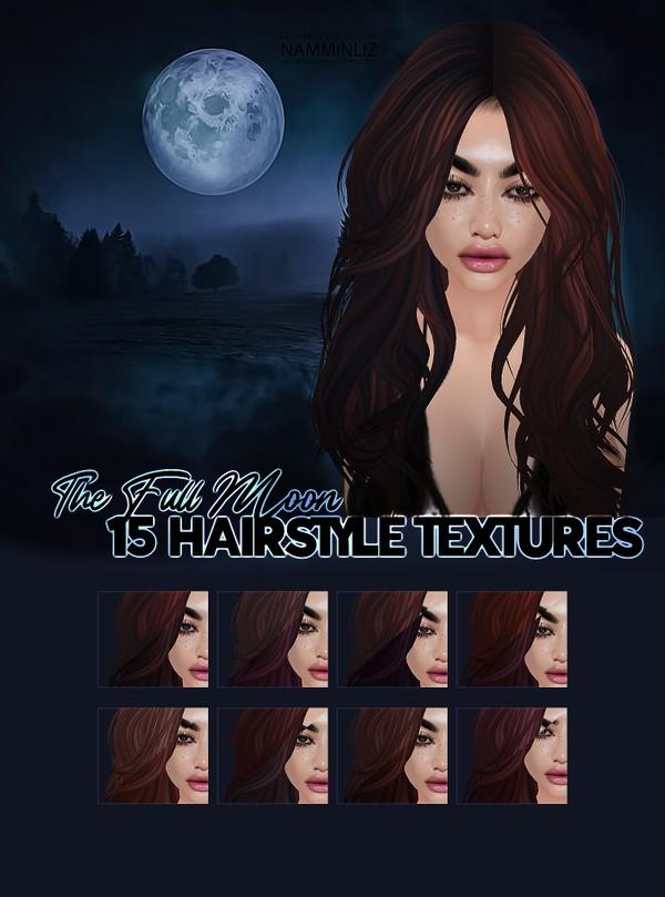 The Full Moon 15 Hair Textures colors JPG