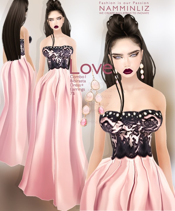 Love combo1 Bibirasta imvu dress + Earrings