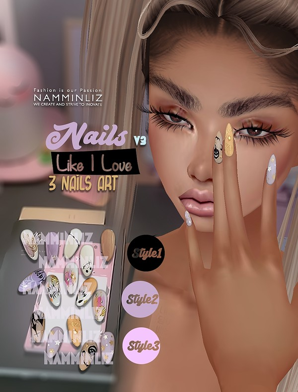 Nails Like I Love V3 3Nails Art Textures PNG CHKN