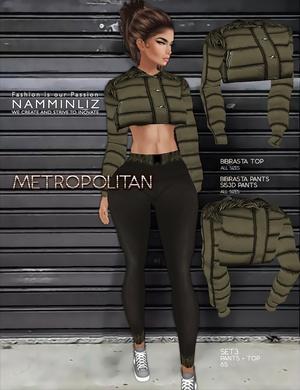 Metropolitan SET3 imvu textures bibirasta Top & Pants Sis3d