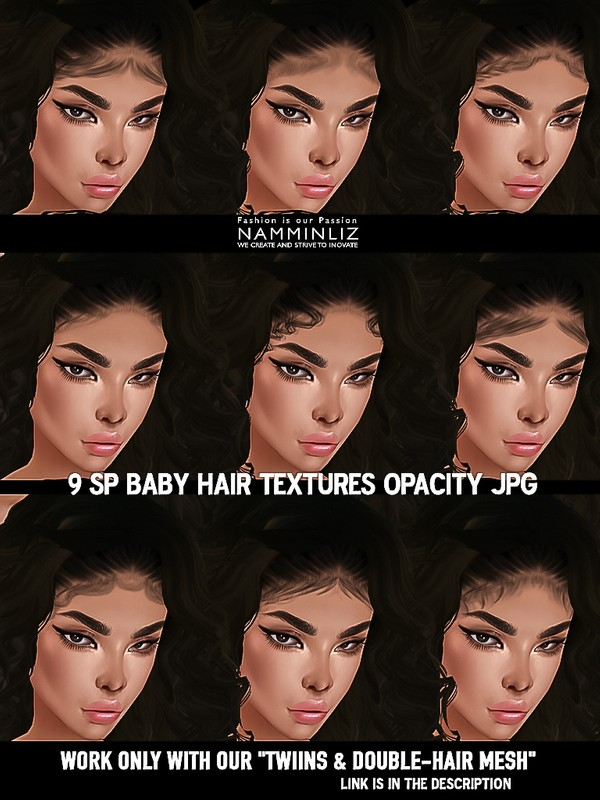 9 SPNew Baby hair Opacity Texture JPG (Work only with our TWIINS & DOUBLE BabyMesh link description)