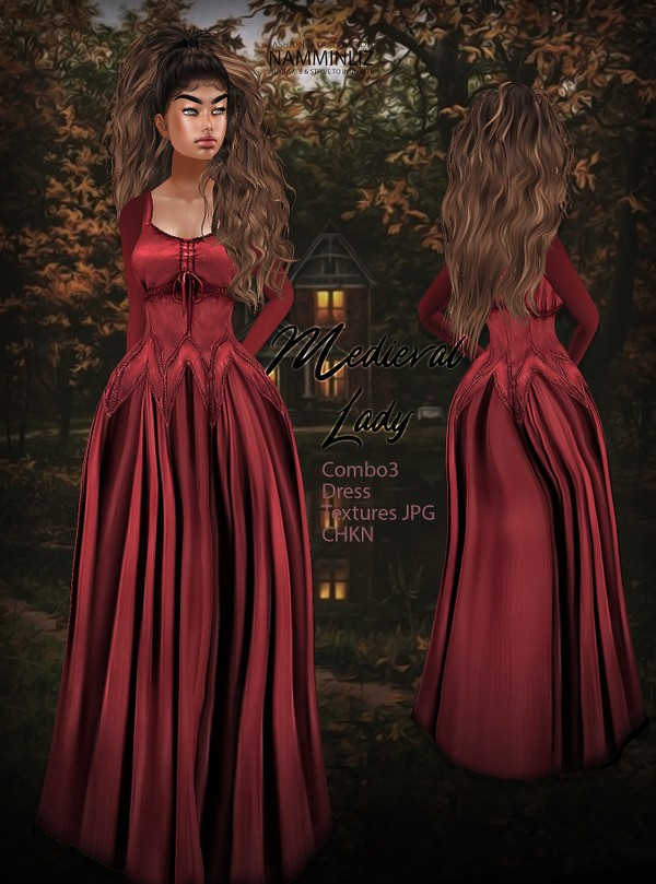 Medieval Lady combo 3 Dress Textures JPG CHKN