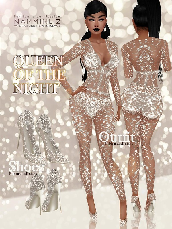 Queen of the Night 1 ( Outfit and Shoes ) JPG Textures