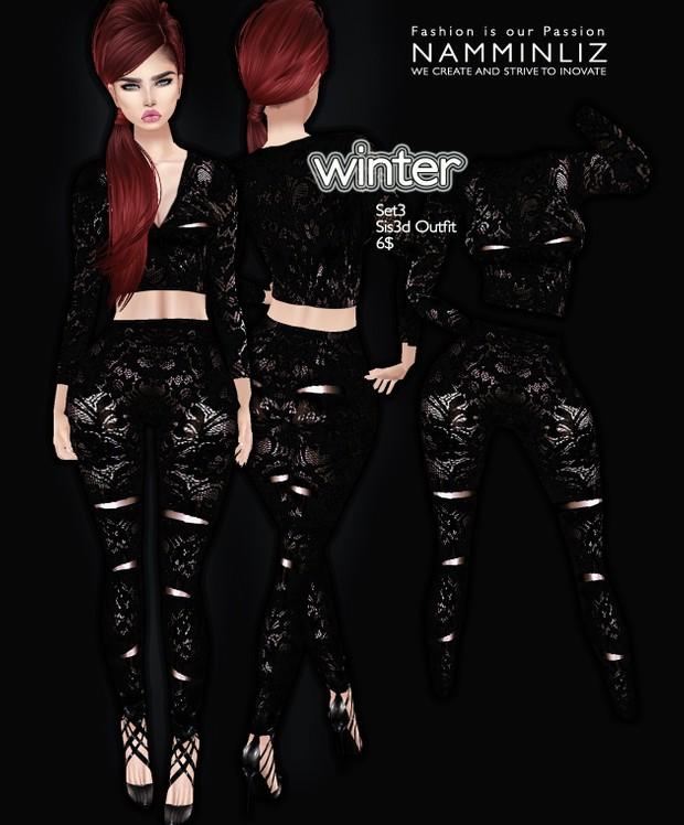 Full Winter set imvu Sis3d outfit