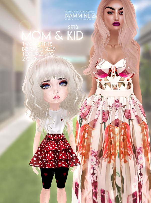 Mom & Kid Set3 Two Outfit Textures JPG 2 CHKN