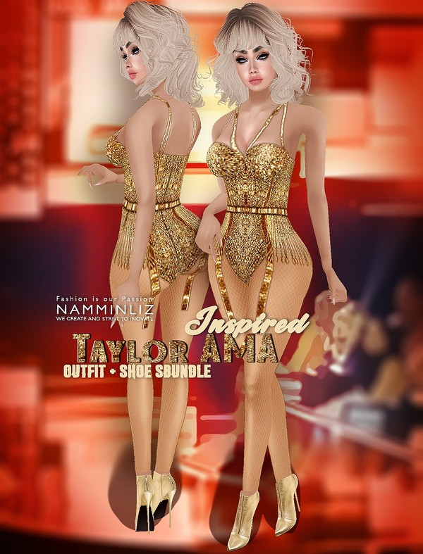 Inspire TaylorAMA  Bundle Shoes & Outfit Bibirasta & Specialist Textures PNG CHKN