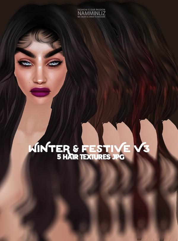 Winter & Festive 5 V3 Hair Textures JPG