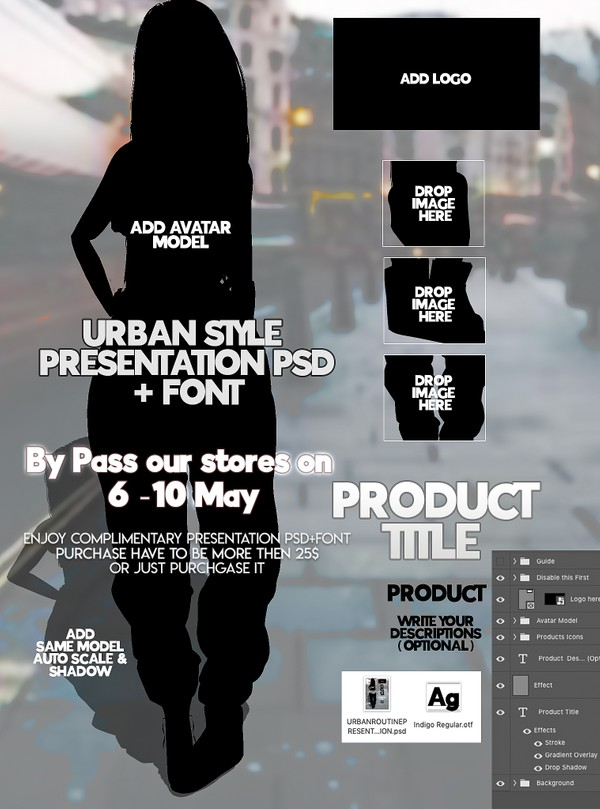 By Pass our stores on 6 to 10 May to get a complimentary Urban Presentation PSD + Front