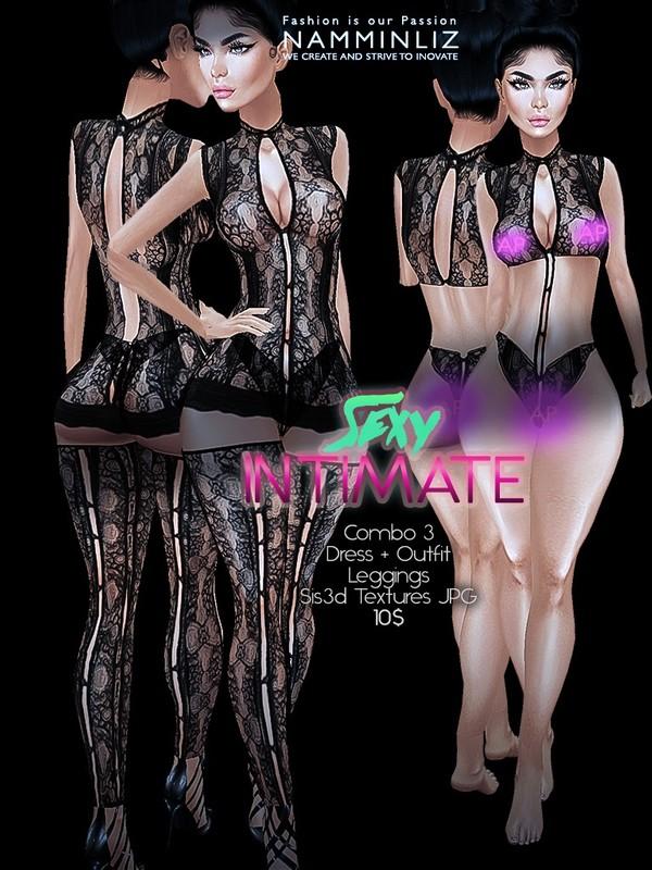 Sexy Intimate combo3 (Dress + outfit + Leggings) Sis3d imvu AP Texture JPG