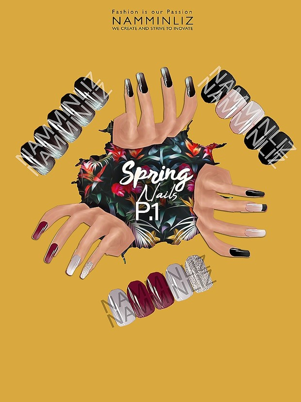 Spring Nails P.1 3 PNG Textures NAMMINLIZ