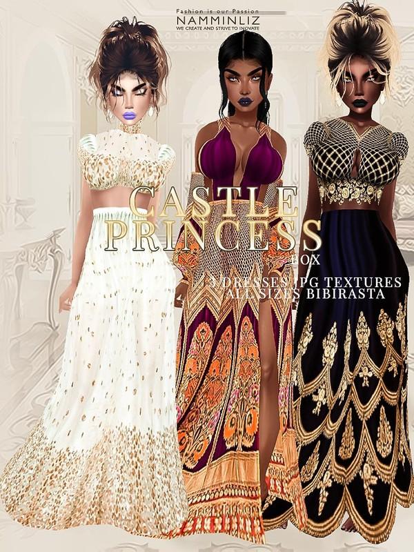 Castle Princess Box 3 Dresses JPG Textures bibirasta all sizes
