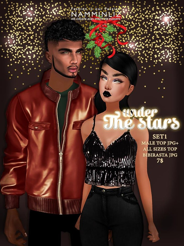 Under the Stars SET 1 (Male top JPG + All sizes Top Bibirasta JPG Textures)