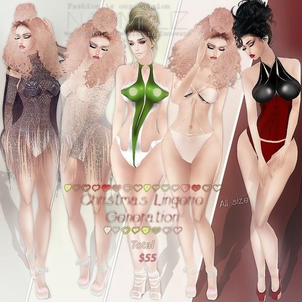 Christmas lingerie generation combo 4