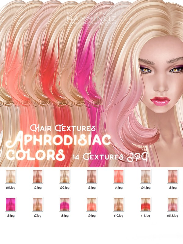Aphrodisiac colors 14 Hair Textures JPG