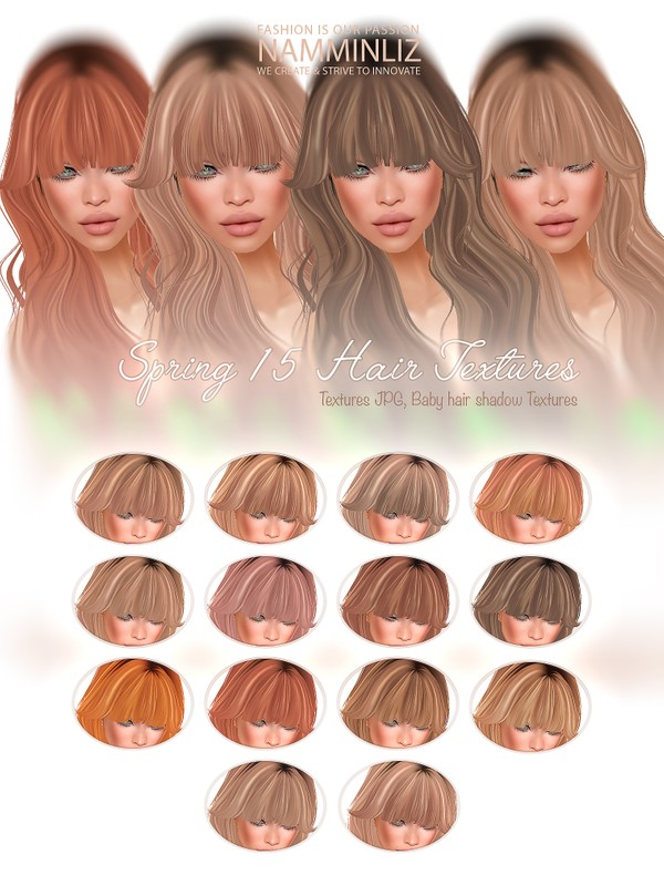 Spring 15 Hair Colors Textures JPG & Babyhair Shadow