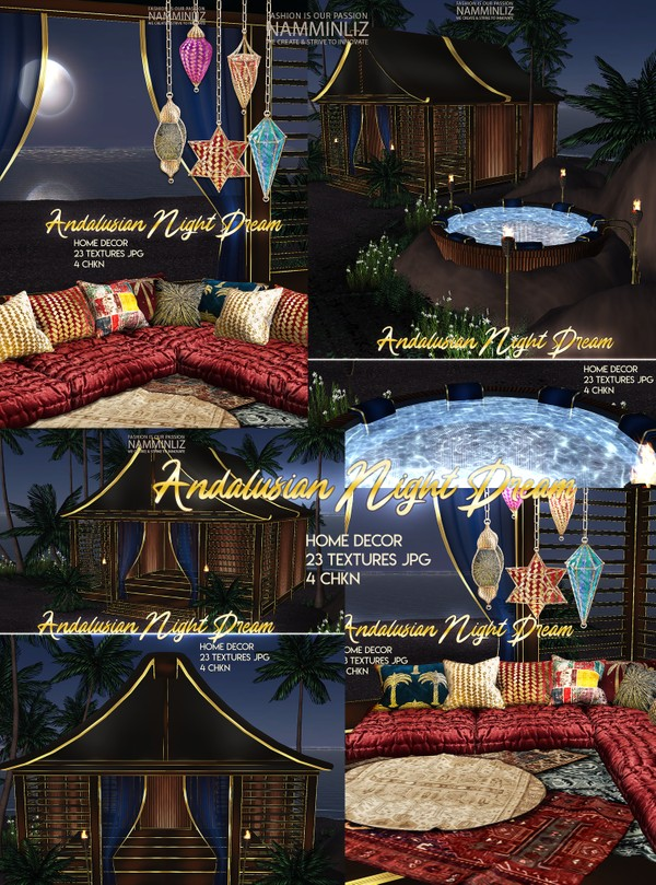 Andalusian Night Dream Home decor 23 Textures JPG 4 CHKN