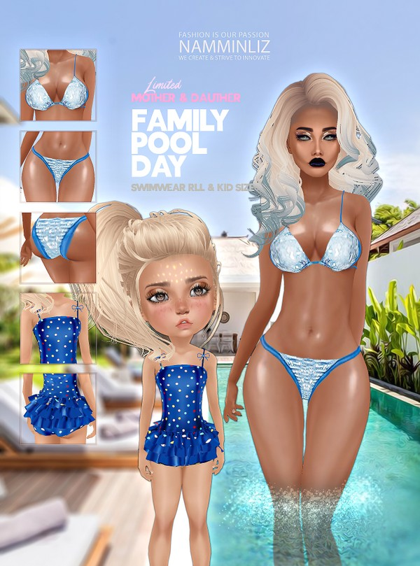Family pool day Bundle 3 Textures JPG 2 CHKN Mother & Daughter Swim Limited to 3 clients only