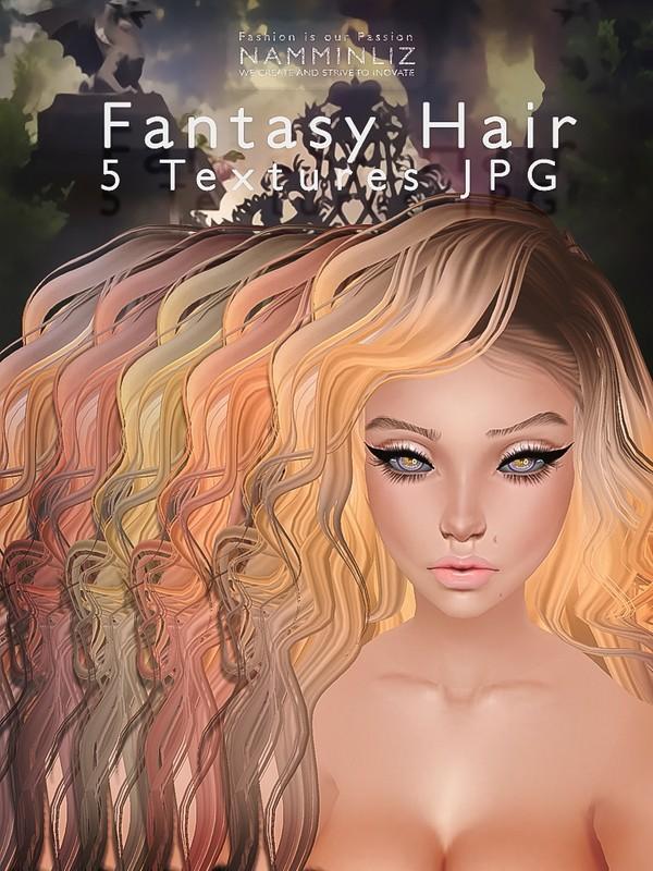 Fantasy Hair 5 Textures V2 JPG