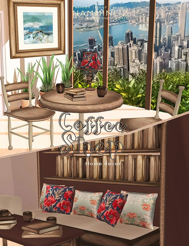 Coffee Shop 27Textures PNG