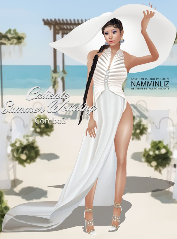 Caliente Summer Wedding Dress Combo3 Textures PNG  CHKN  Limited to 3 clients only ^  -  &