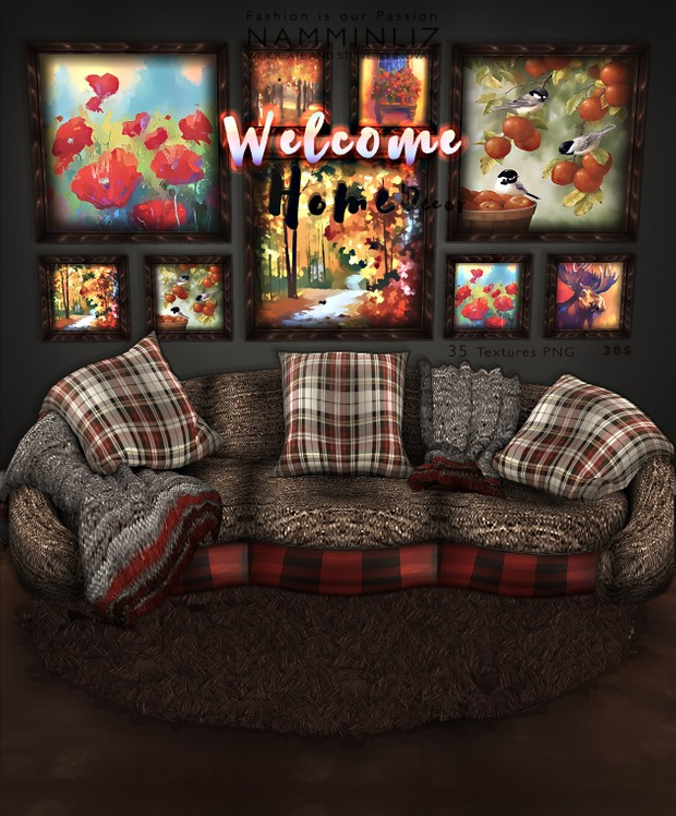 Welcome Home imvu decor 35 Textures PNG Limited to 4 person only
