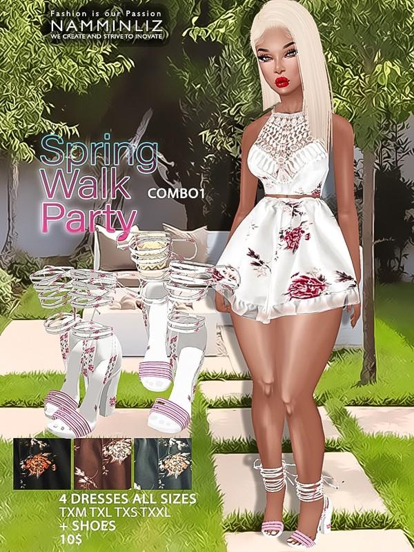 Spring Walk Party combo1 ( Dress AllSizes + shoes ) JPG TEXTURES imvu