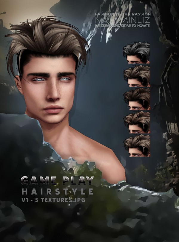 GAME PLAY HAIRSTYLE V1 - 5 Hairstyle Textures JPG