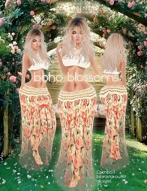 Boho blossoms combo4 all sizes bibirasta imvu texture PNG