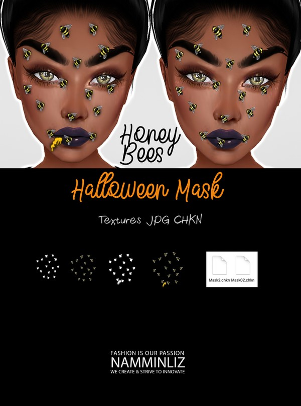 Halloween Honey Bees Textures JPG 2 CHKN