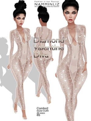 Diamond Valentine Diva combo2 outfit Sis3d JPG Texture