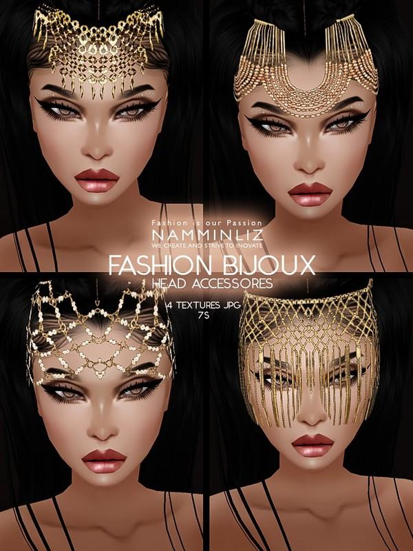 Fashion Bijoux 4 Head Accessories JPG Textures imvu NAMMINLIZ