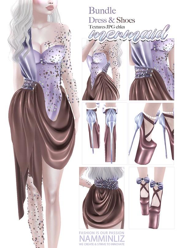 Mermaid Bundle Textures JPG Outfit & Shoes CHKN