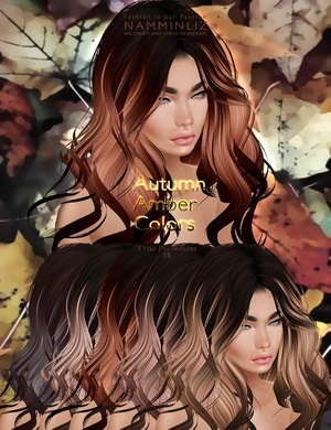 Autumn Amber colors 5 Hair JPG Textures imvu NAMMINLIZ