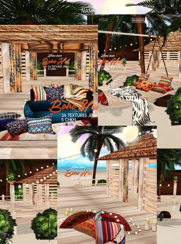 Boho Hut Home decor 34 Textures JPG 5 CHKN