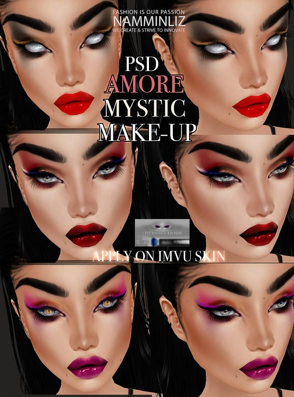 AMORE Make-up PSD to be apply on imvu skin head