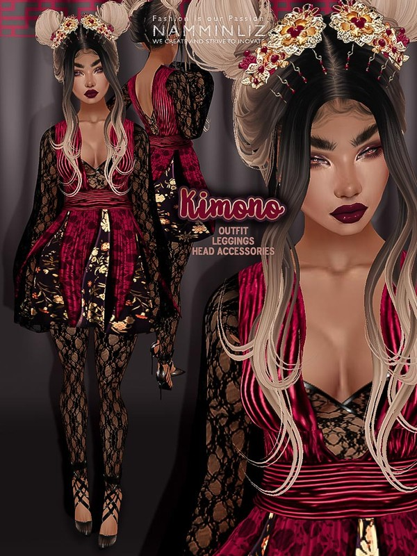 Kimono bundle Textures JPG (Outfit, Leggings, Accessories)