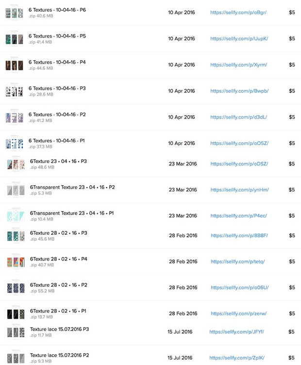 All NAMMINLIZ Textures regrouped in one ( 42 Packs )