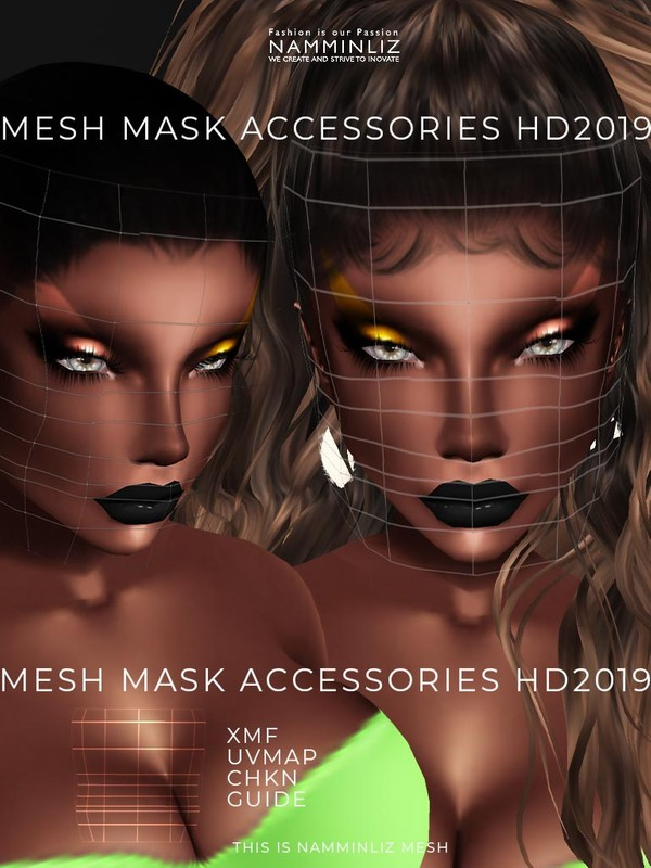 MESH Mask Accessories HD 2019 XMF CHKN UVMAP GUIDE