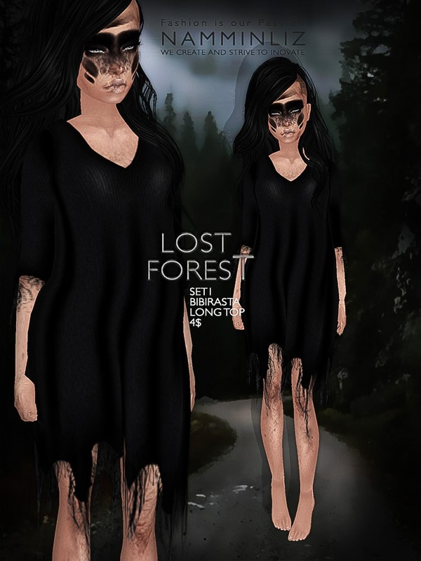 Lost forest set 1 imvu texture JPG Bibirasta long top - NAMMINLIZfilesale