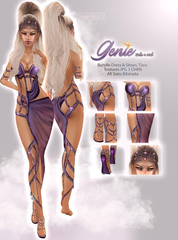 Genie Make a Wish Bundle Dress & Shoes, Tiara Textures JPG 3 CHKN
