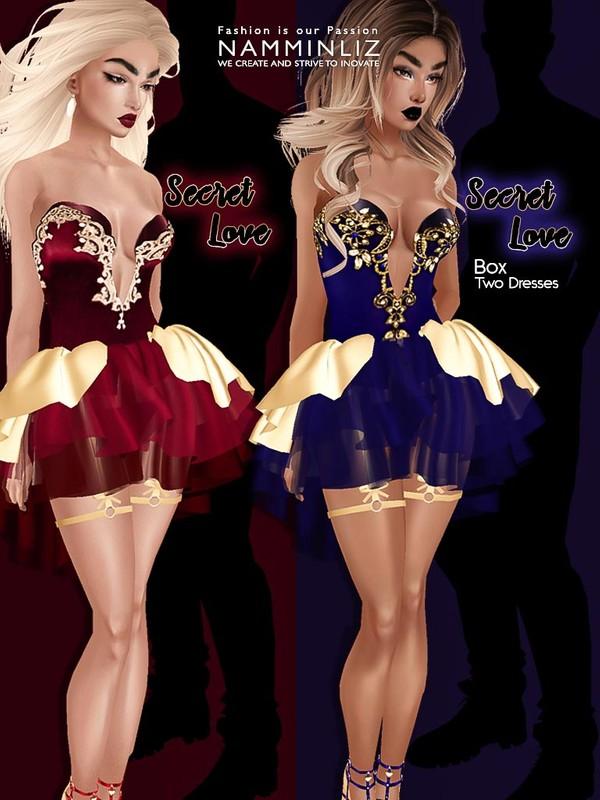 Secret Love Box Two Dresses JPG Textures CHKN
