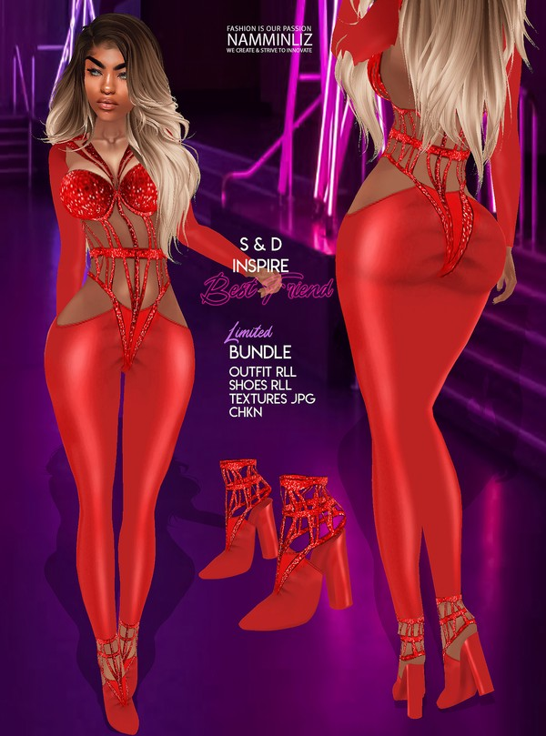 Inspire BestFriend V2 S&D Bundle Outfit, Shoes RLL Textures jpg CHKN Limited to 3 clients