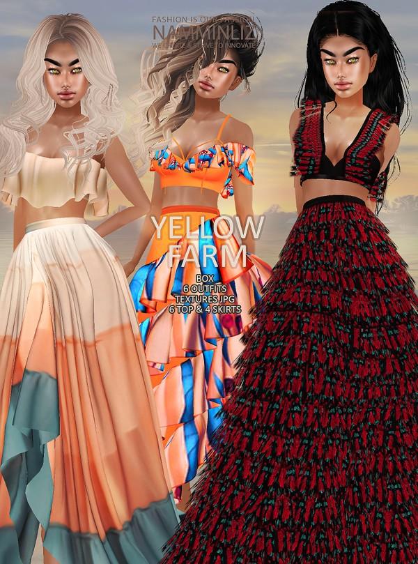 Yellow Farm Box 6 Tops 6 Skirts Textures JPG 12 CHKN