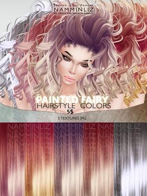 Painted Fairy Hair colors 5 Textures JPG