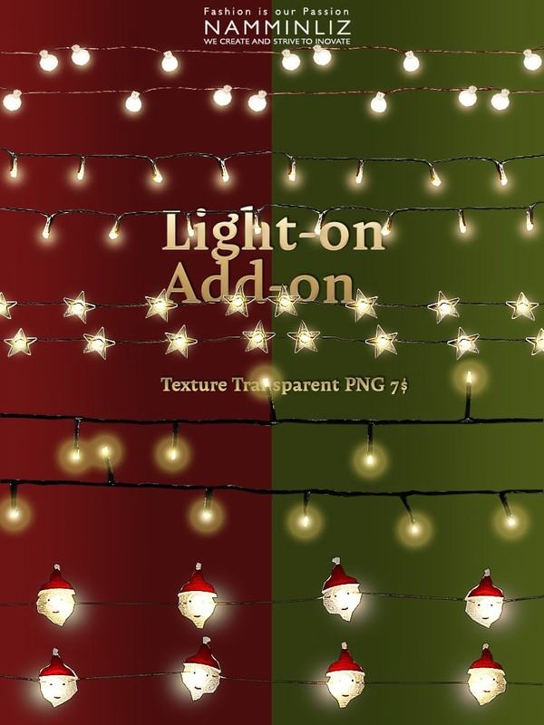 LIGHT-ON ADD-ON  Transparent Textures PNG