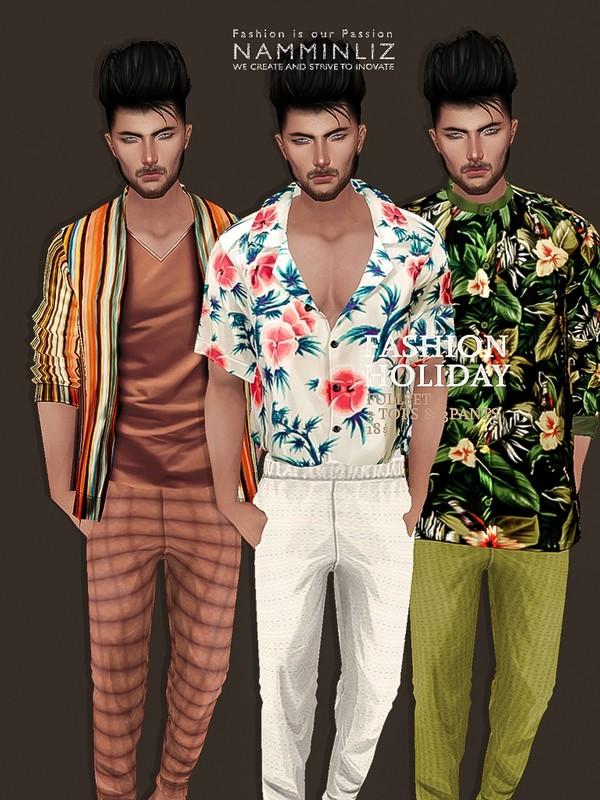 Fashion Holiday Full SET 3Tops + 3Pants