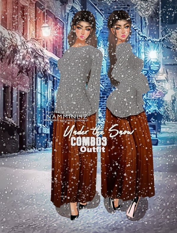 Under The Snow Combo3 Textures PNG 1 CHKN Outfit (Sweater & Skirt)