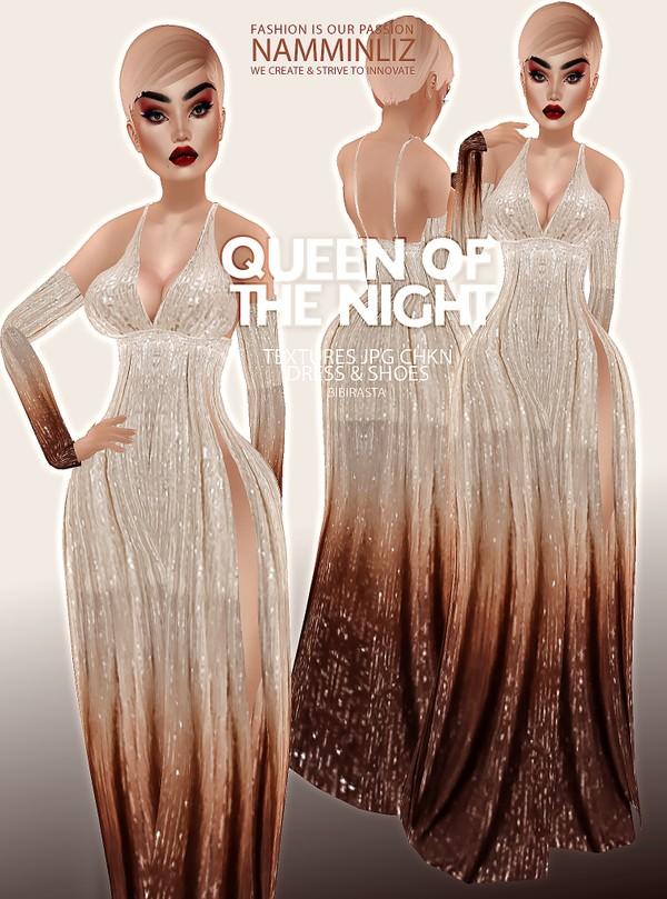 Queen of the Night Dress & Shoes Textures JPG CHKN Bibirasta